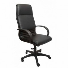 RAPIDLINE EXECUTIVE CHAIR, HIGH BACK, PU, BLACK ARMS AND BASE