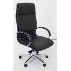 RAPIDLINE CL820 EXTRA LARGE EXECUTIVE CHAIR, HIGH BACK, SUPER SOFT PU, CHROME