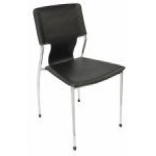 RAPIDLINE VISITORS CHAIR, FERNANDO B STACKABLE BLACK